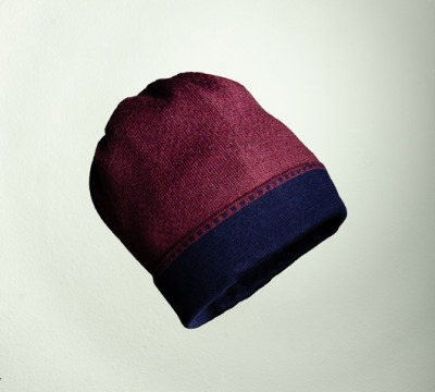 Mütze Bundfarbe in den Farben burgund
