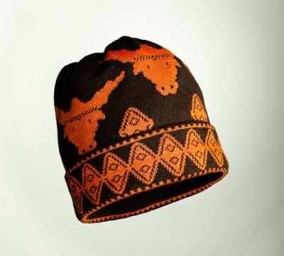 Mütze Stier in den Farben kaffe