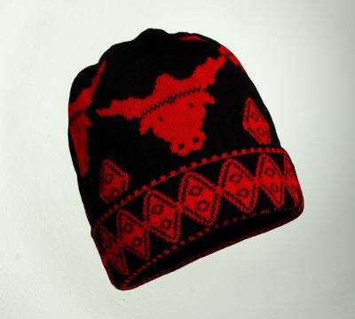 Merino Mütze Stier in den Farben