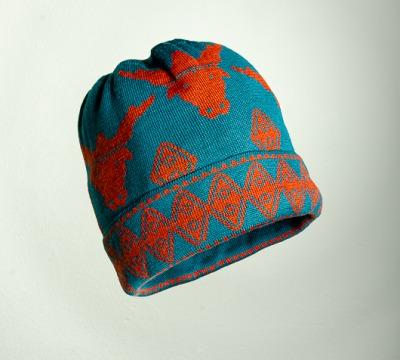 Mütze Stier in den Farben türkis