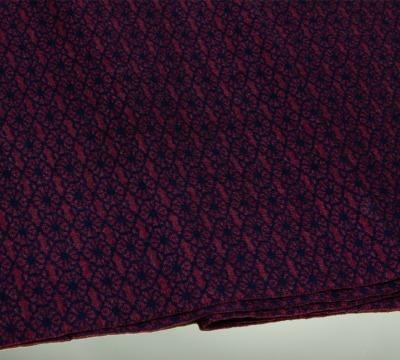 Merino scarf Blossom - darkblue &