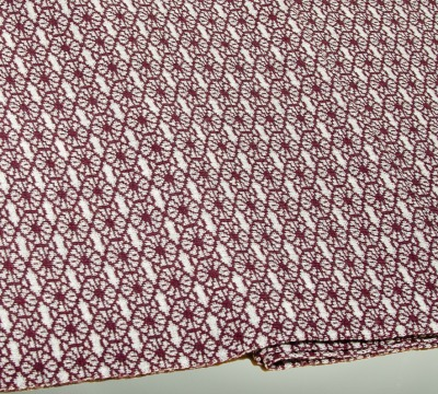 Merino scarf Blossom - silver &