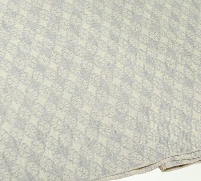Merino Schal Blütenkaro in weiß und