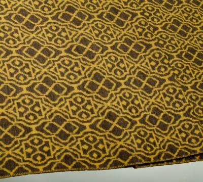 Merino scarf Net - yellow &