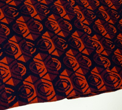 Merinoschal Lotus 3-farbig in terra weinrot