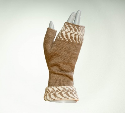 Handwarmer - Colours: taupe and creme