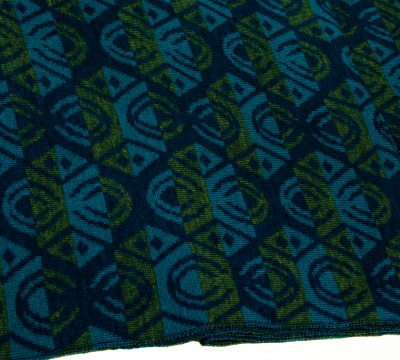 Merino scarf Lotus triple-coloured Colours: petrol