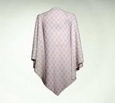 Wrap Blossom-Check - Colours: lilac/creme