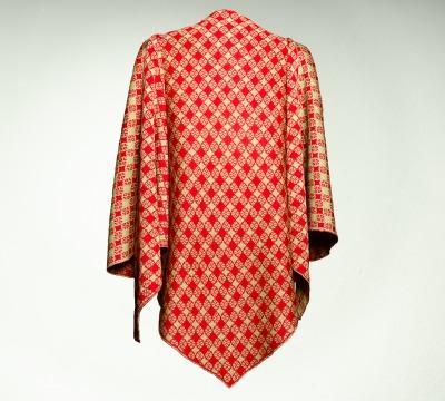 Merino Stola Damen in rot und