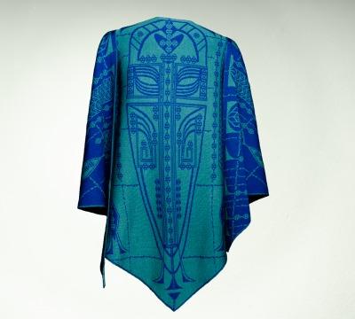 Wrap Pueblo Colours: royal-blue and turquoise