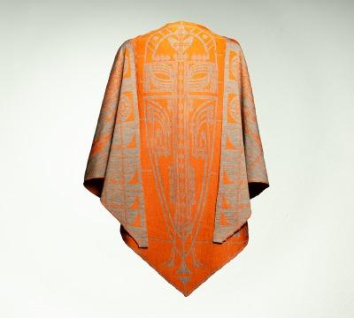 Wrap Pueblo Colours: orange and taupe