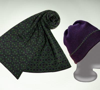 Merino Schal und Mütze Irland in
