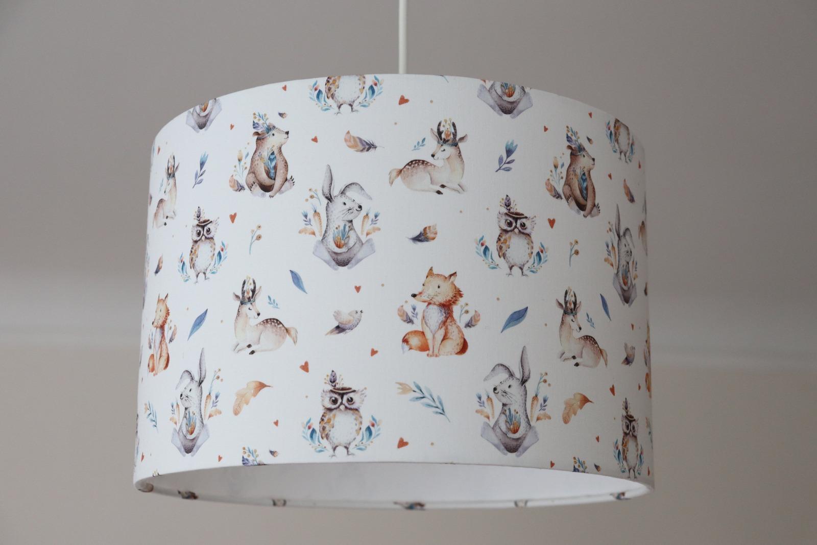 Lampenschirm Kinderzimmer Deckenleuchte Waldtiere Kinderzimmerlampe Boho