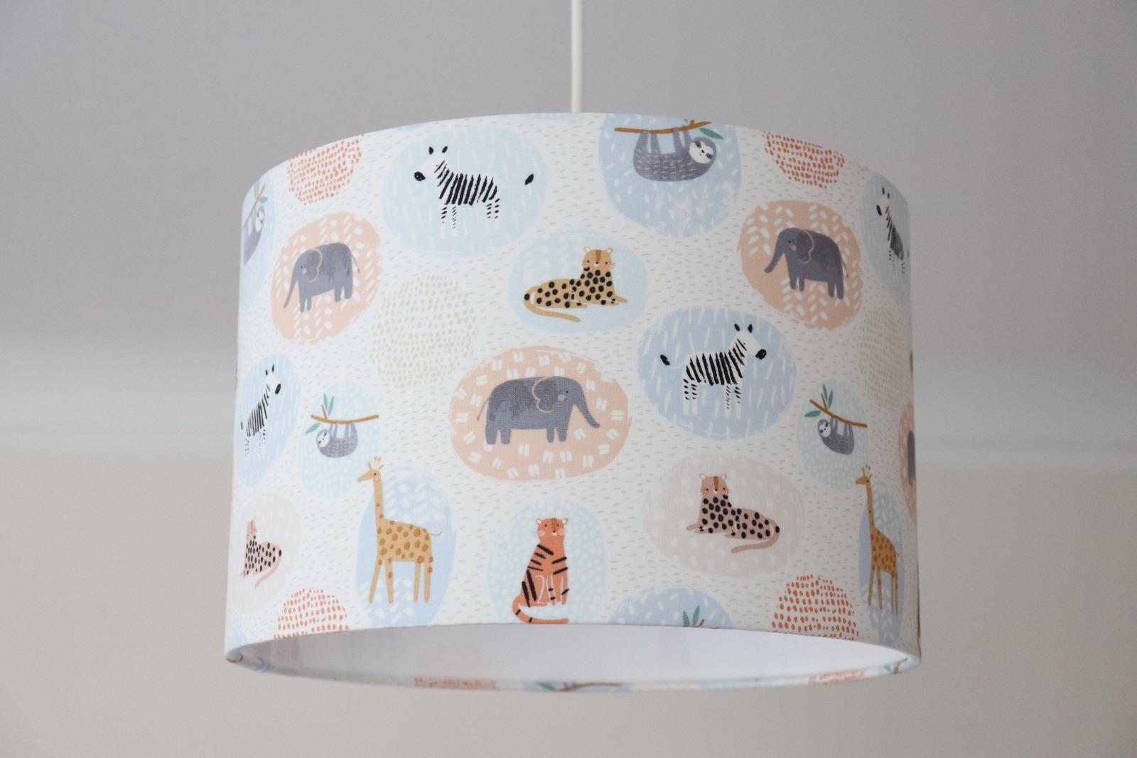 Lampenschirm Kinderzimmer Tiere pastell