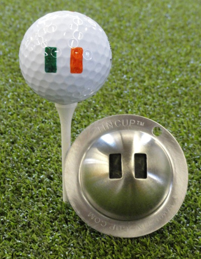 Tin Cup Irish Flag Restbestand danach - 1