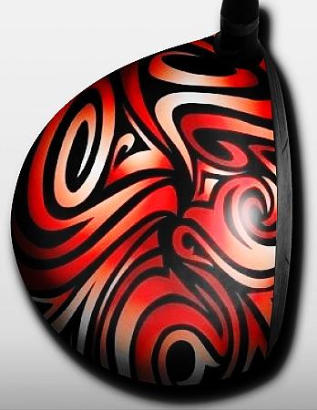 Swirls rot und schwarz