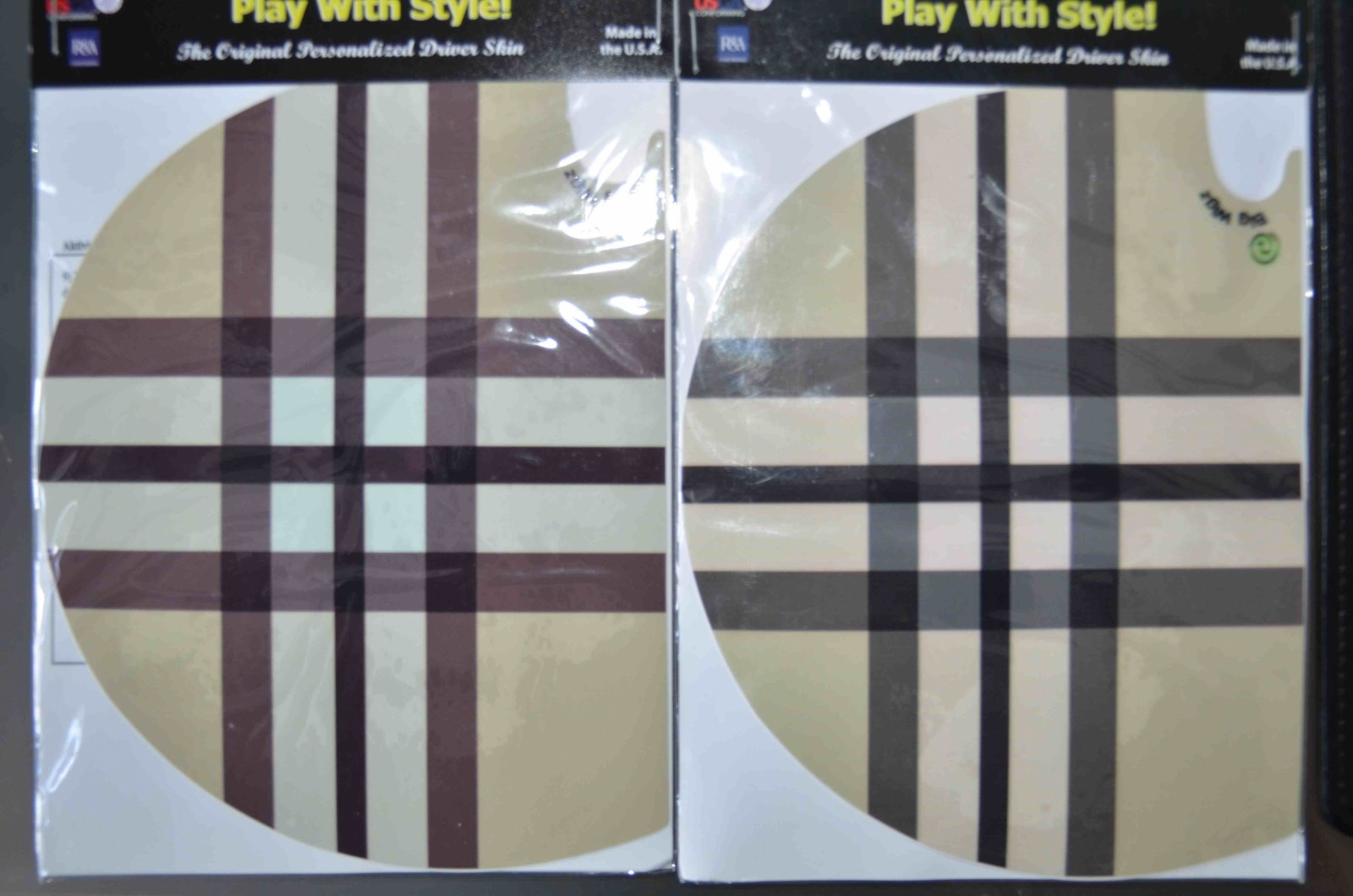 Plaid Brown and Beige