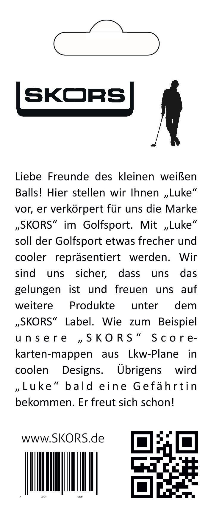 SKORS Aufkleber Luke Schwarz