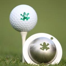 Tin Cup - Rip It - Dieser Tin Cup ist eine Ball Schablone aus Edelstahl mit dem Design eines Frosches. Mit einem feinen und wasserfesten Stift laesst sich dann das Design auf den Golf Ball malen.