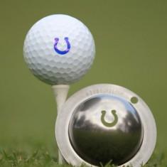 Tin Cup - Ringer - Dieser Tin Cup ist eine Ball Schablone aus Edelstahl mit dem Design eines Hufeisen. Mit einem feinen und wasserfesten Stift laesst sich dann das Design auf den Golf Ball malen.