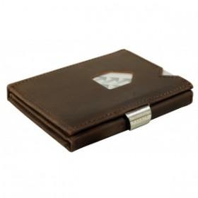 Exentri Wallet in braun aus Nubuk Leder - Mit dem smarten Exentri Wallet Geldscheine und Karten einfach verwalten.