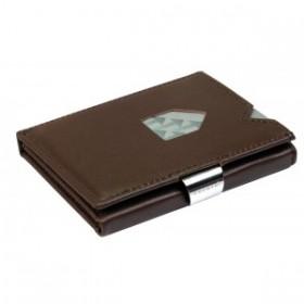Exentri Wallet Glattleder in der Farbe Braun - Mit dem smarten Exentri Wallet Geldscheine und Karten einfach verwalten.