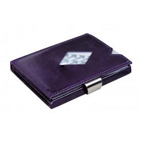 Exentri Wallet in Glattleder in der Farbe Lila - Mit dem smarten Exentri Wallet Geldscheine und Karten einfach verwalten.