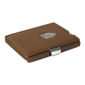 Exentri Wallet in braun mit einer gepraegten Struktur - Mit dem smarten Exentri Wallet Geldscheine und Karten einfach verwalten.