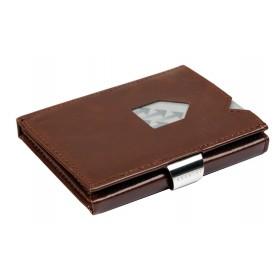 Exentri Wallet in Glattleder mit der Farbe Nut - Mit dem smarten Exentri Wallet Geldscheine und Karten einfach verwalten.