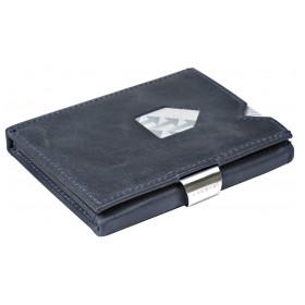 Exentri Wallet in Glattleder in der Farbe Blau - Mit dem smarten Exentri Wallet Geldscheine und Karten einfach verwalten.