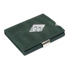 Exentri Wallet in Glattleder in der Farbe Gruen - Mit dem smarten Exentri Wallet Geldscheine und Karten einfach verwalten.