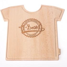 T-Board mit T-Board Design - Das T-Board ist ein Schneidebrett aus Holz.