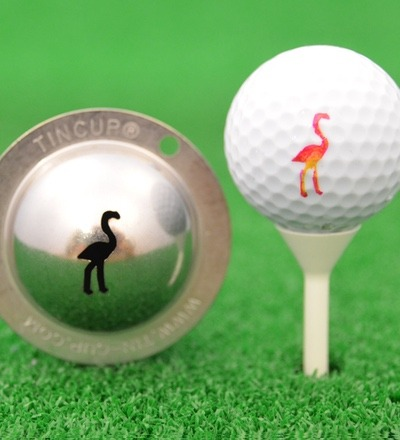 Tin Cup Pink Flamingo Der originale
