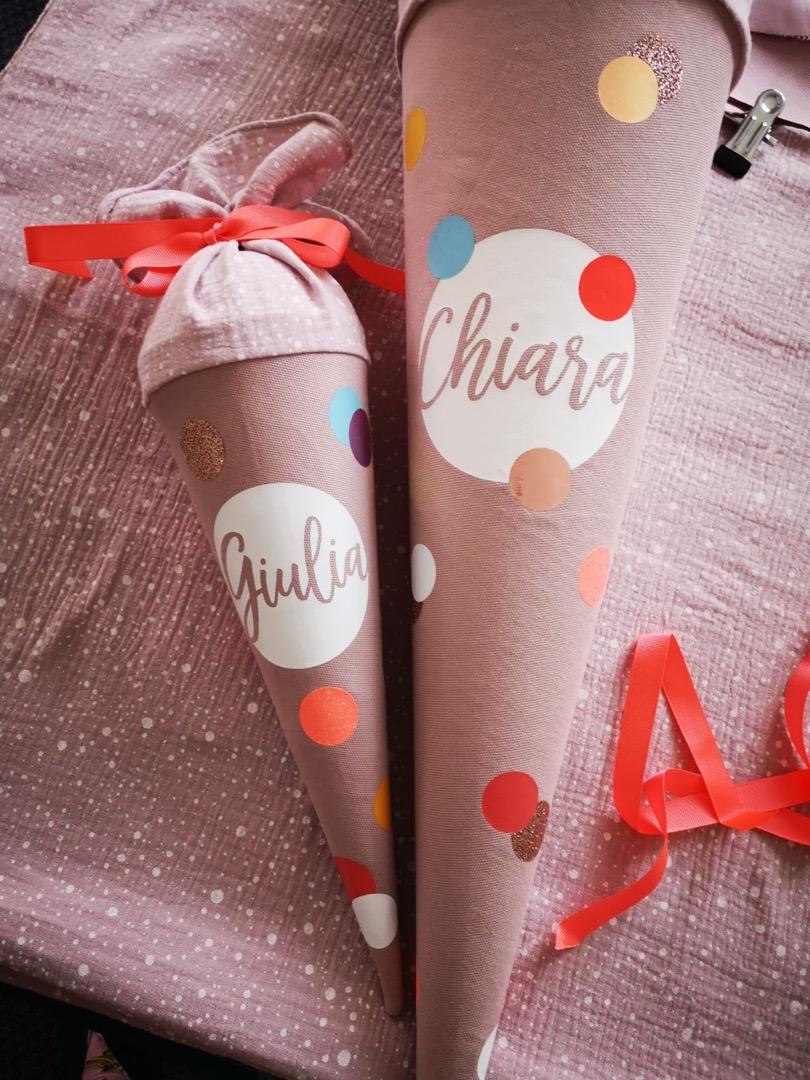 Konfetti Schultüte aus Stoff für Mädchen