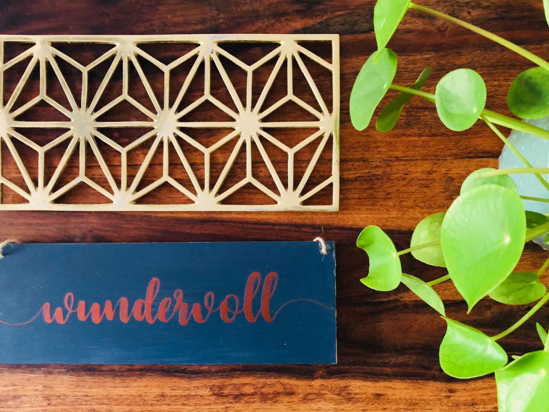 wundervoll - Holzschild 6