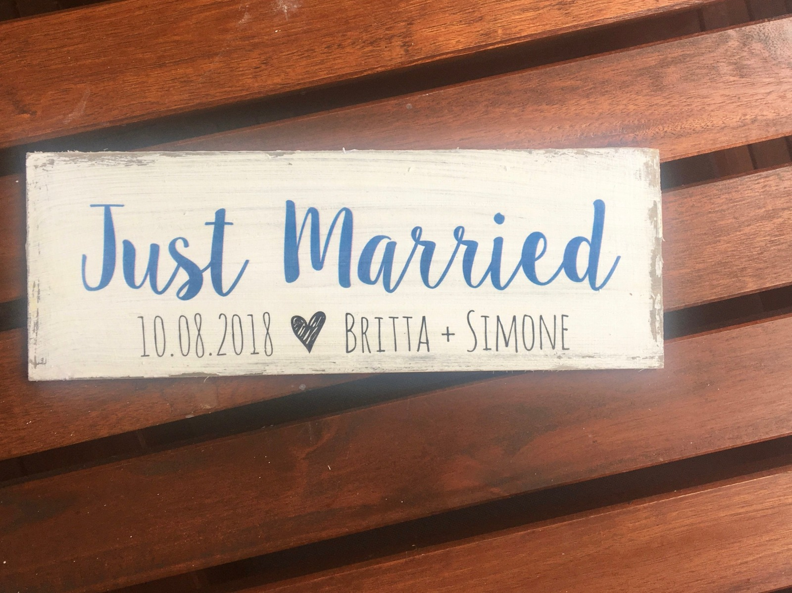 Just Married Holzschild 5