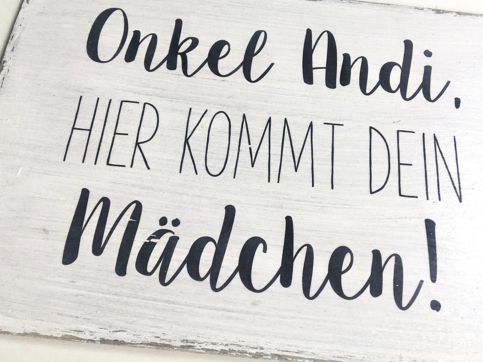 vintage Blumenmädchen - Holzschild weiß 5