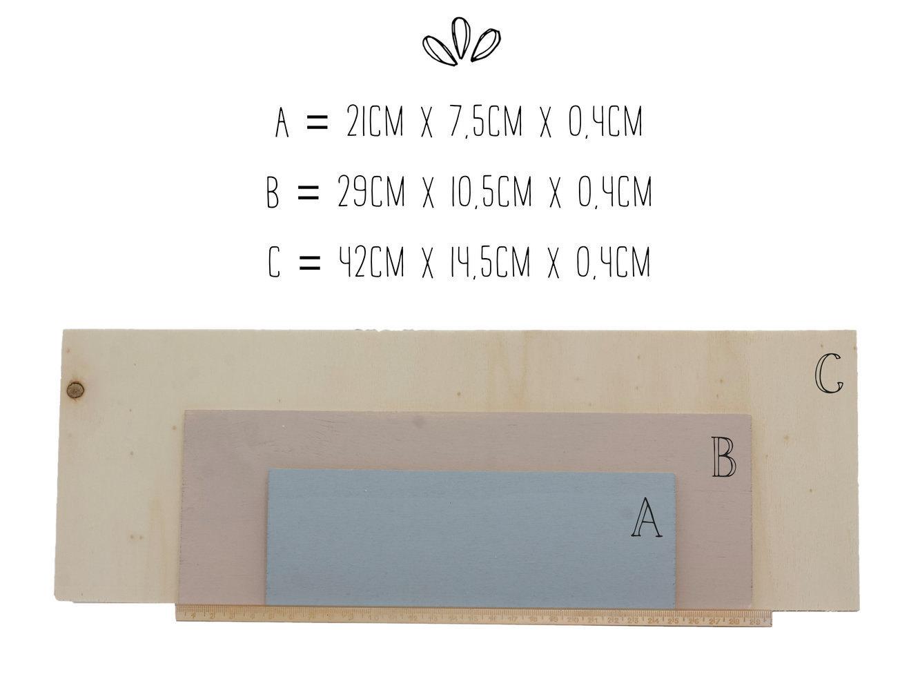 Ja Holzschild mit Datum 3