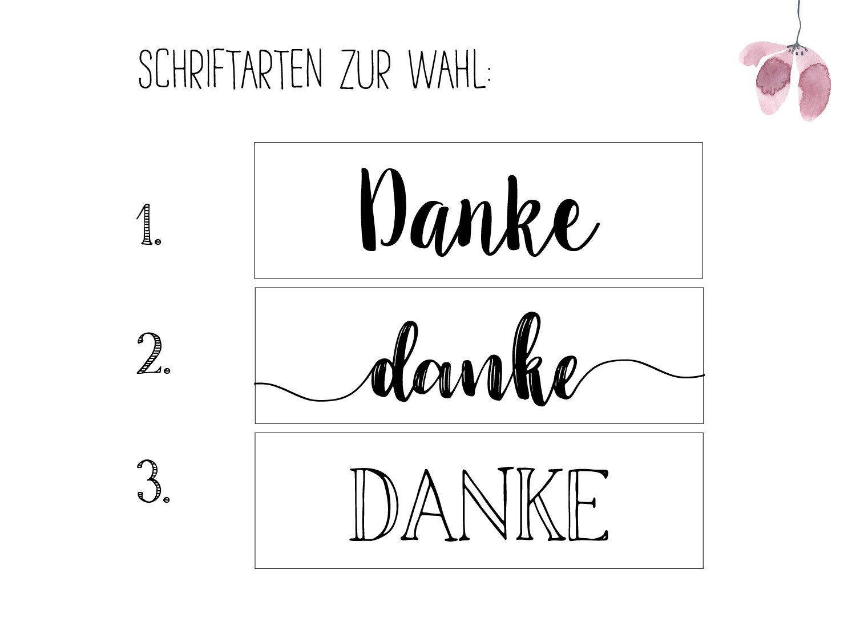 Danke - Holzschild 3