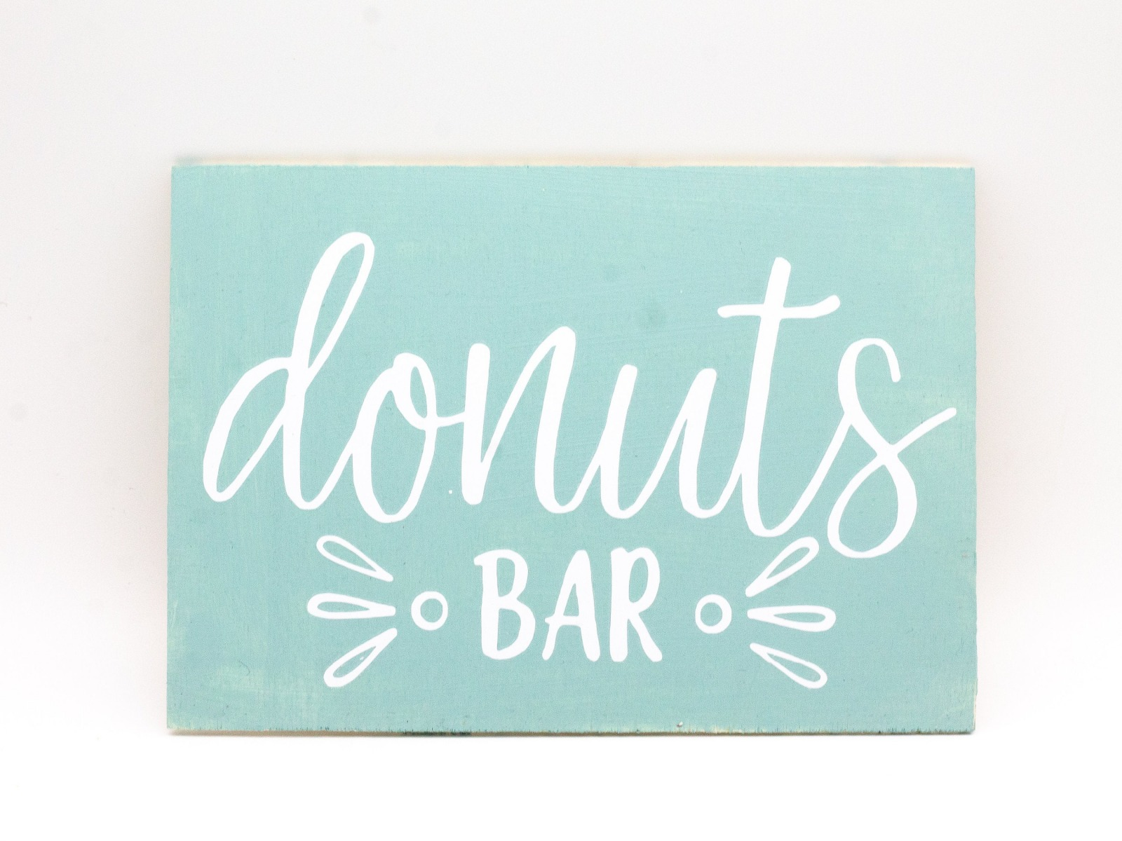 Donut Bar - Holzschild