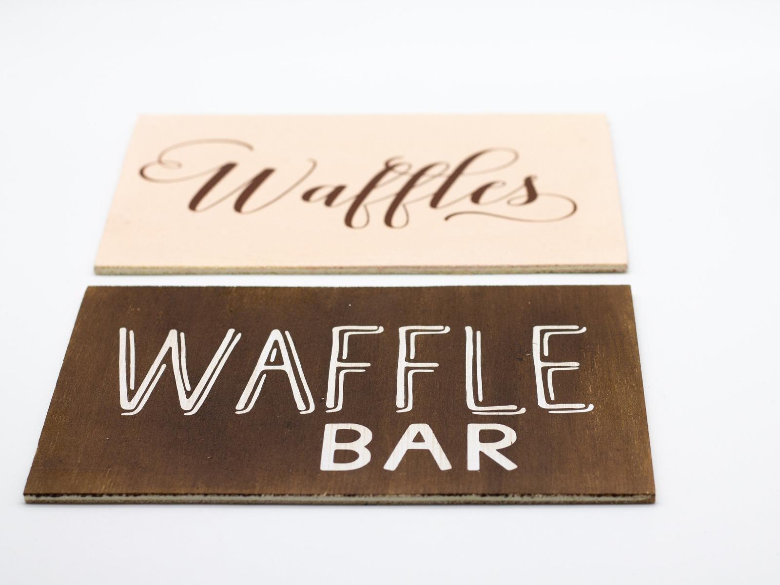 Waffle Bar Holzschild 3
