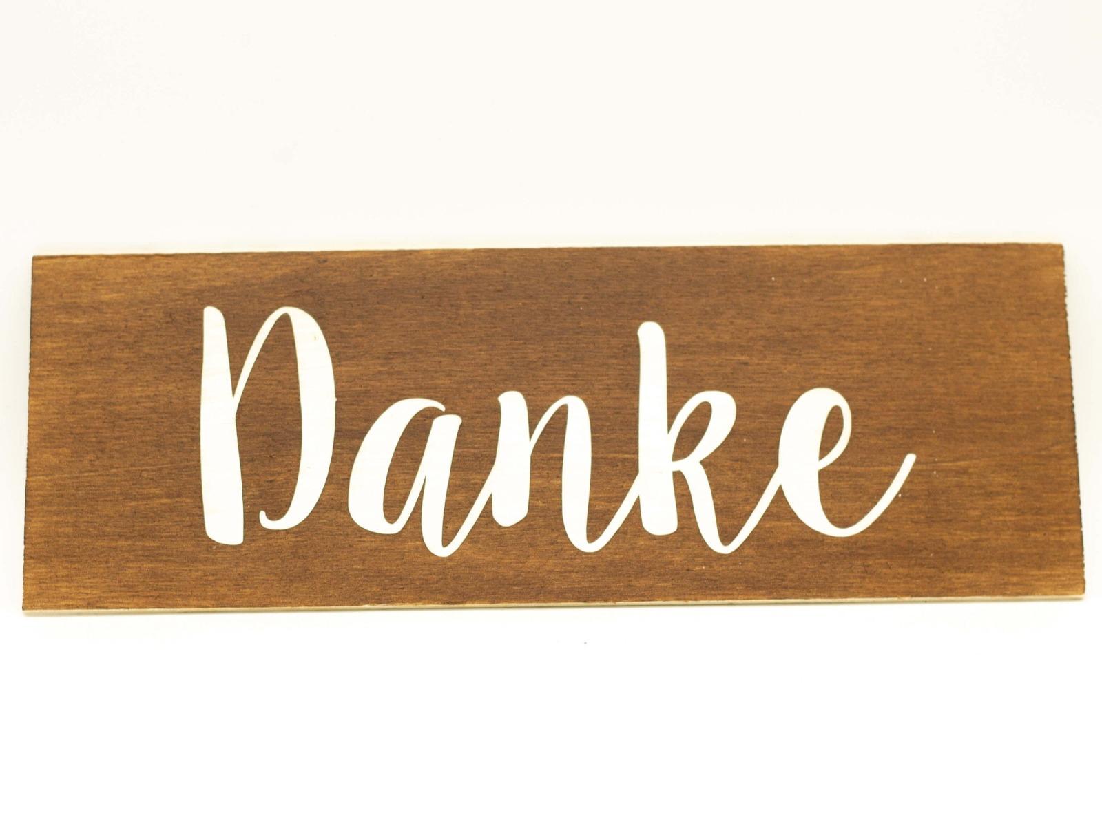 Danke - Holzschild