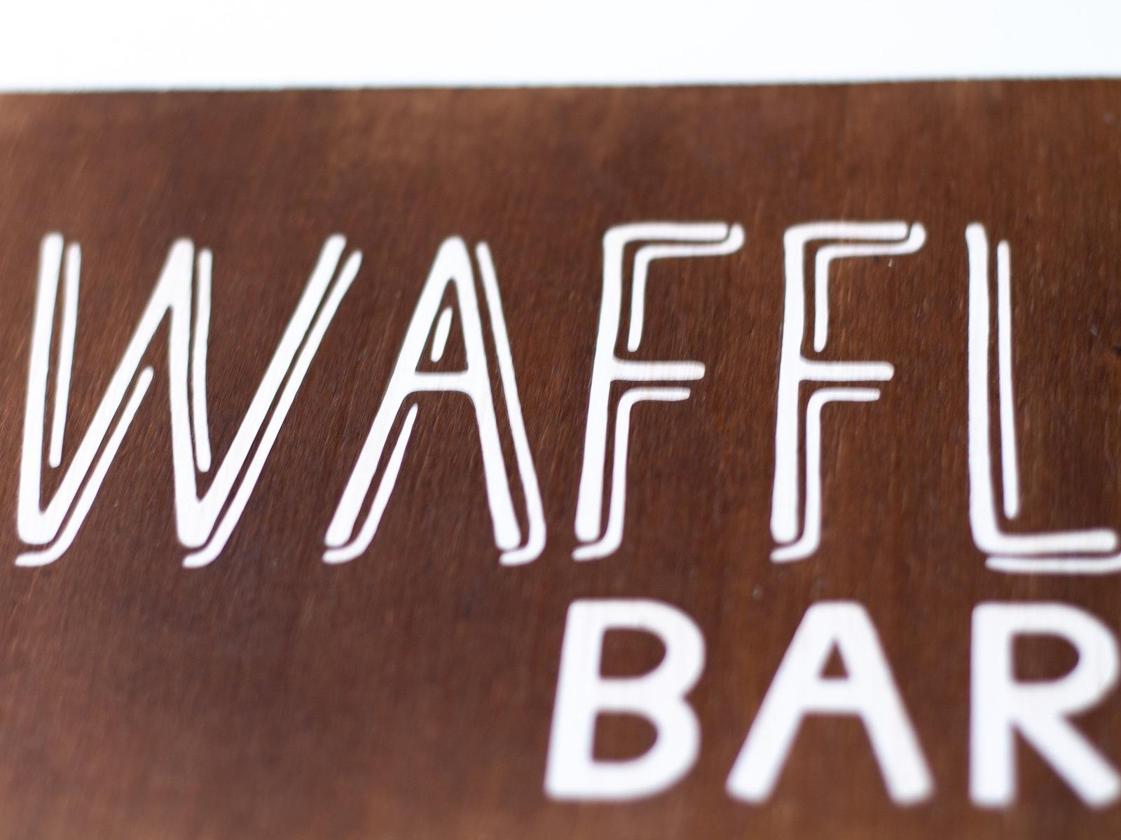 Waffle Bar Holzschild 7