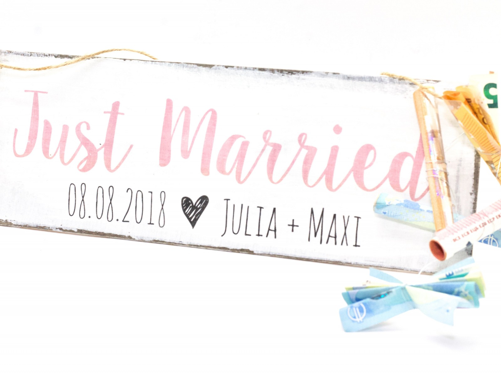 Just Married Holzschild 2