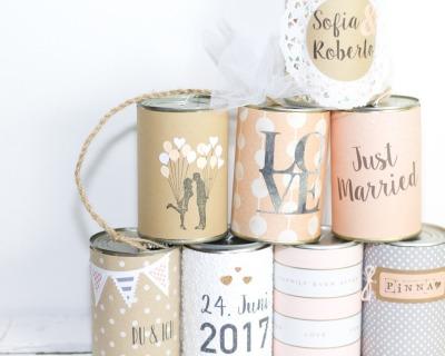 Wedding Cans XL Blechdosen indv gestaltet