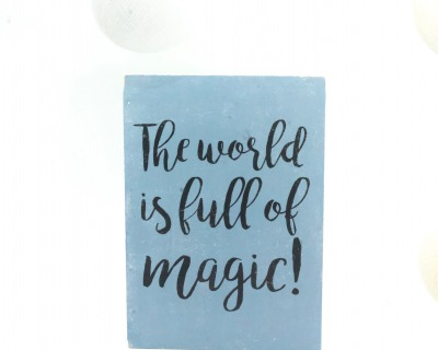 The world is full of magic