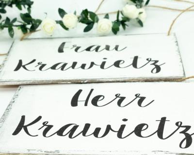 Stuhldeko für die Brautpaar-Sitzplätze indv gestaltet
