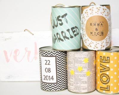 Wedding Cans Holzschild - indv