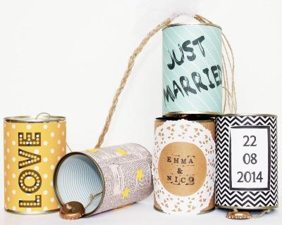 Wedding Cans Autodosen classic Dosen individuell