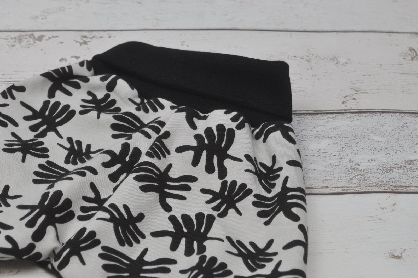 Pumphose schwarz weiß 3